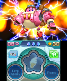 Become super Kirby in his new robotic suit.