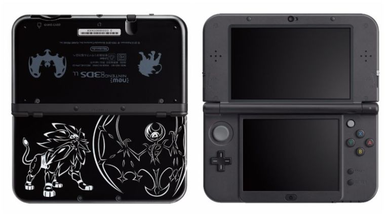 Consola New Nintendo 3ds Xl Pokemon Solgaleo Lunala Black Edition