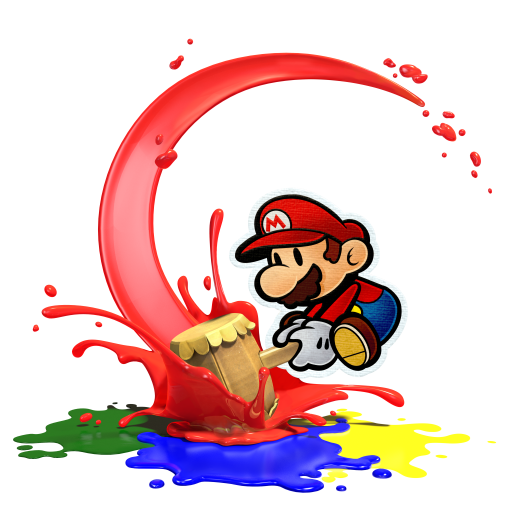 Mario playing Splat...oon?