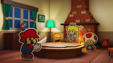 Mario finds a mysterious letter...