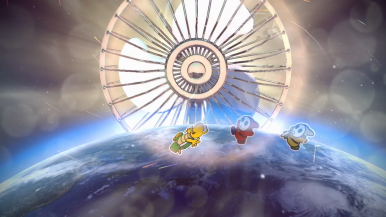 Mario used Big Fan. It was super effective!
