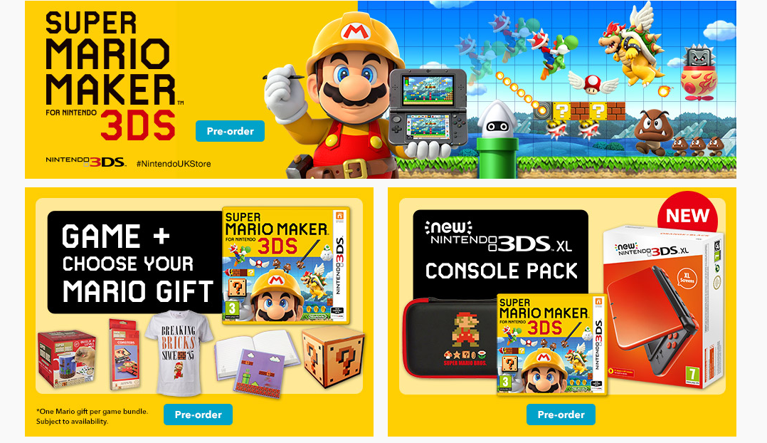 Super Mario Maker 3DS Now Available For Pre-Order On