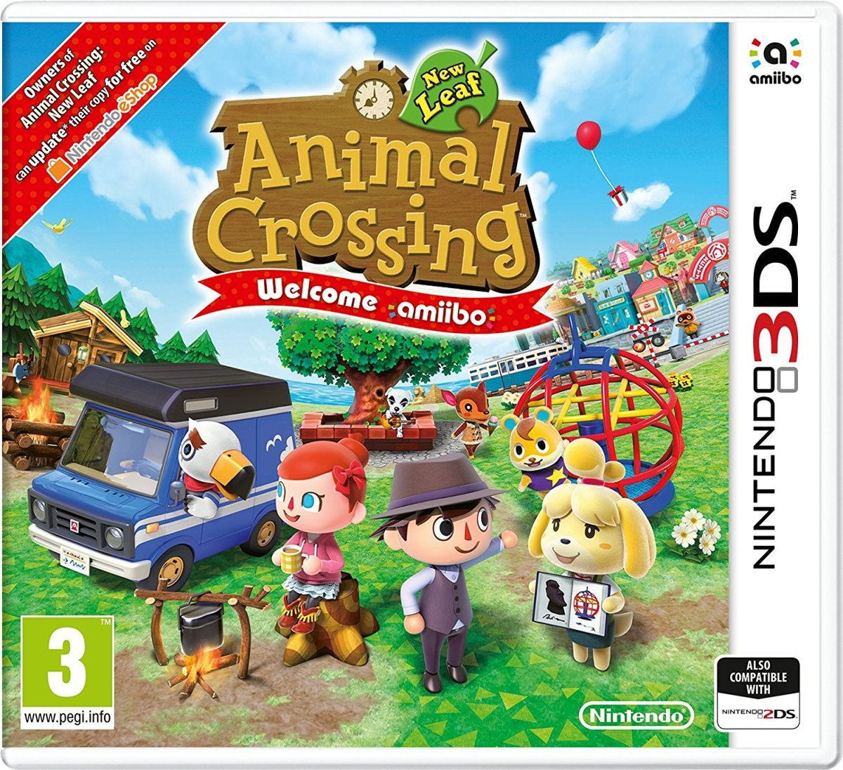 Animal crossing new leaf welcome amiibo arrives at retail for Animal crossing new leaf arredamento
