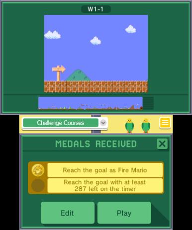 Super Mario Challenge has its own rewards for players.