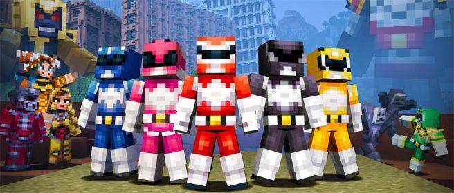 Minecraft: Wii U Edition – Power Rangers Skin  Footage