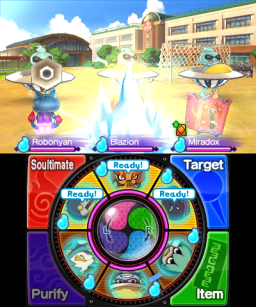 Set different Yo-kai in the front and back teams for varying outcomes.