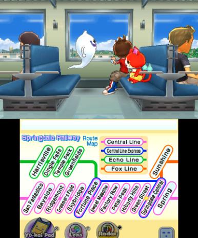 Take a trip on the train.