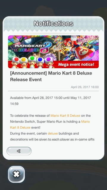 Nintendo Celebrating Mario Kart 8 Deluxe Launch With Super Mario Run Event