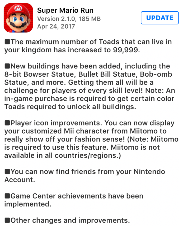 Super Mario Run For Android Update Brings New Features