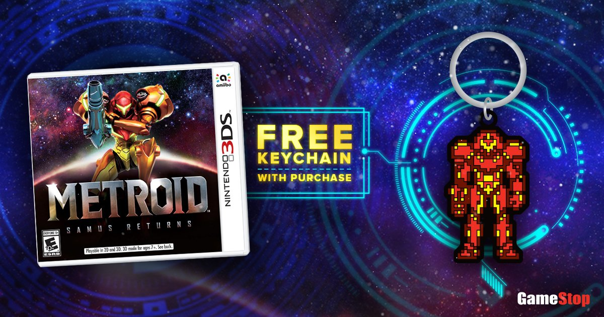Metroid: Samus Returns Pre-Order Comes With Retro-Inspired Keychain At GameStop