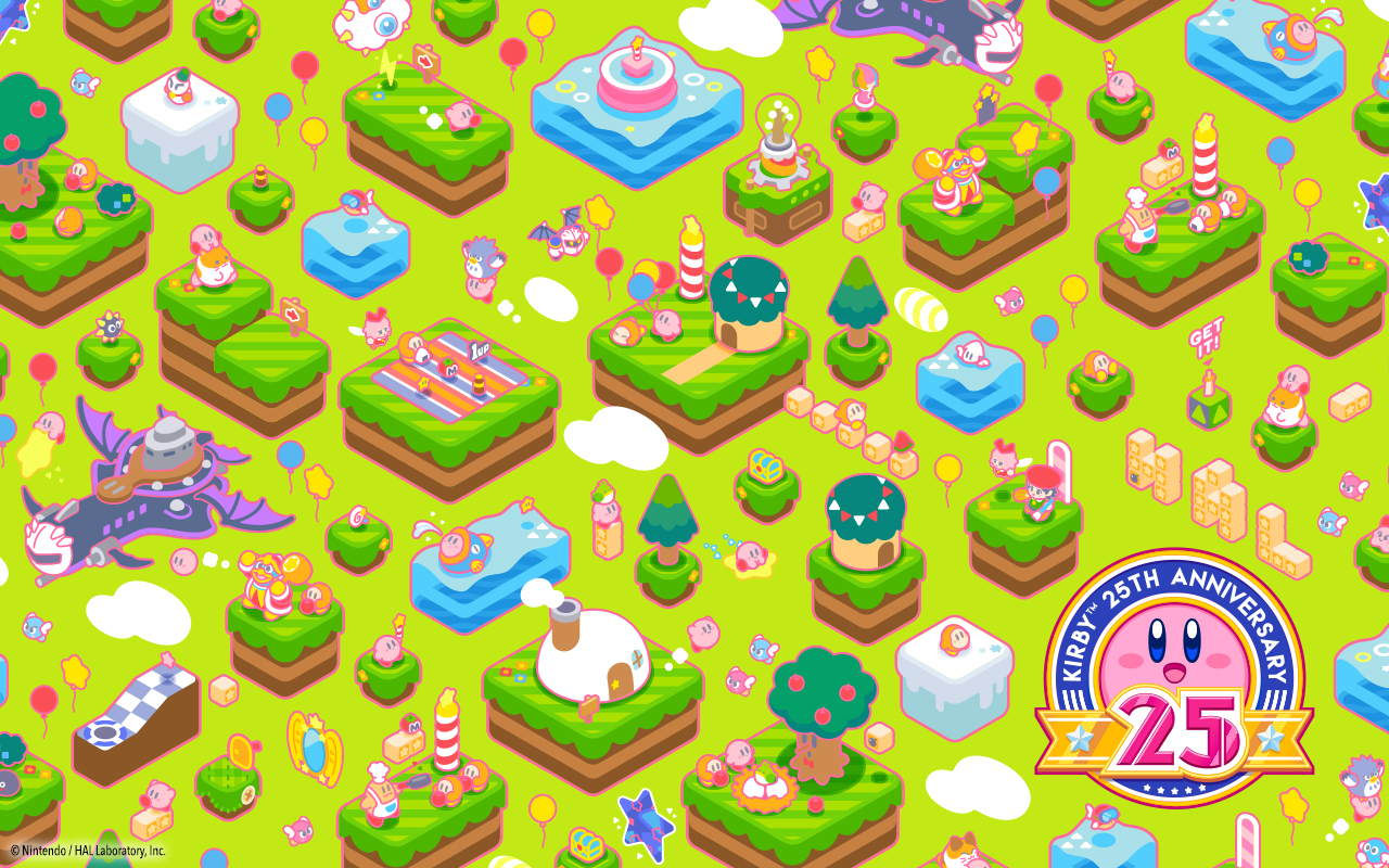 Nintendo Releases Special Free Wallpaper For Kirby S 25th