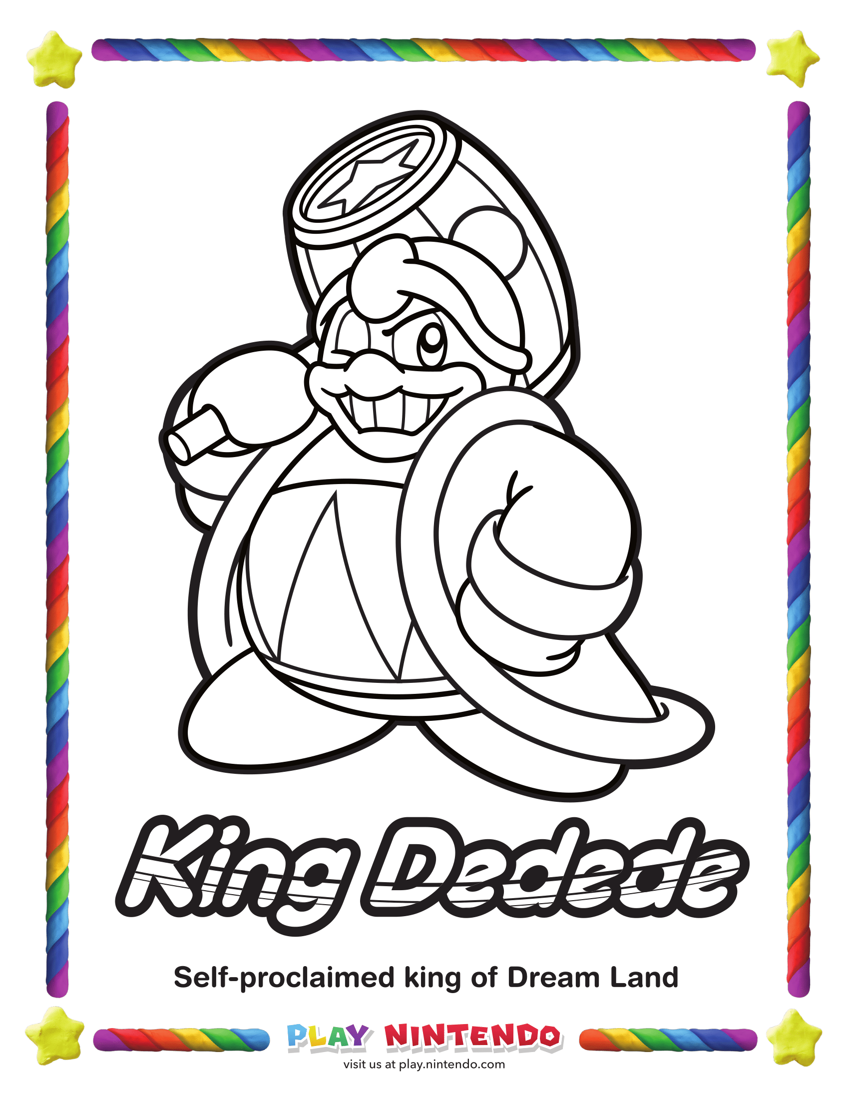 nintendo kirby coloring pages - photo#9