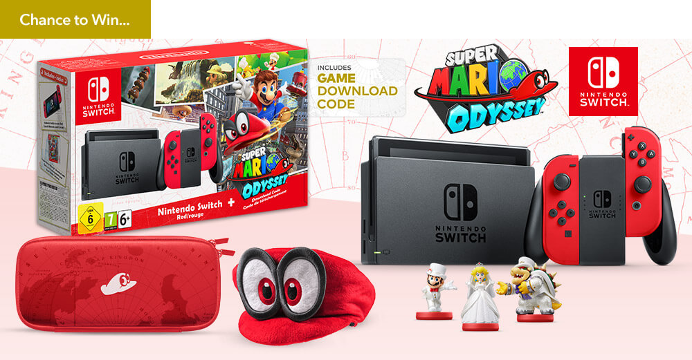 Nintendo Uk Store Holds Prize Draw For Super Mario Odyssey