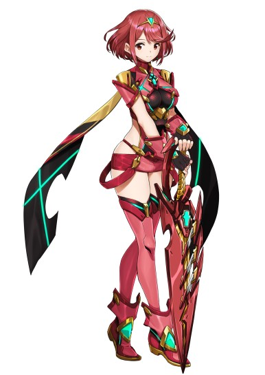 The main protagonist's Blade, Pyra.