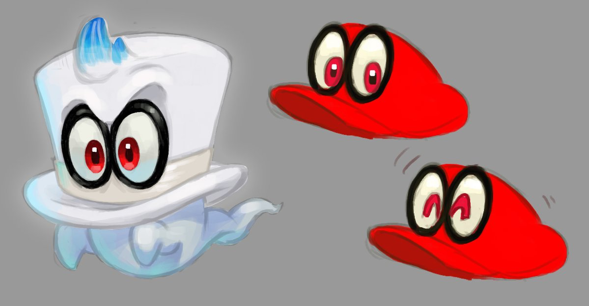 Here S The Final Design Sketch For Cappy In Super Mario Odyssey My Nintendo News