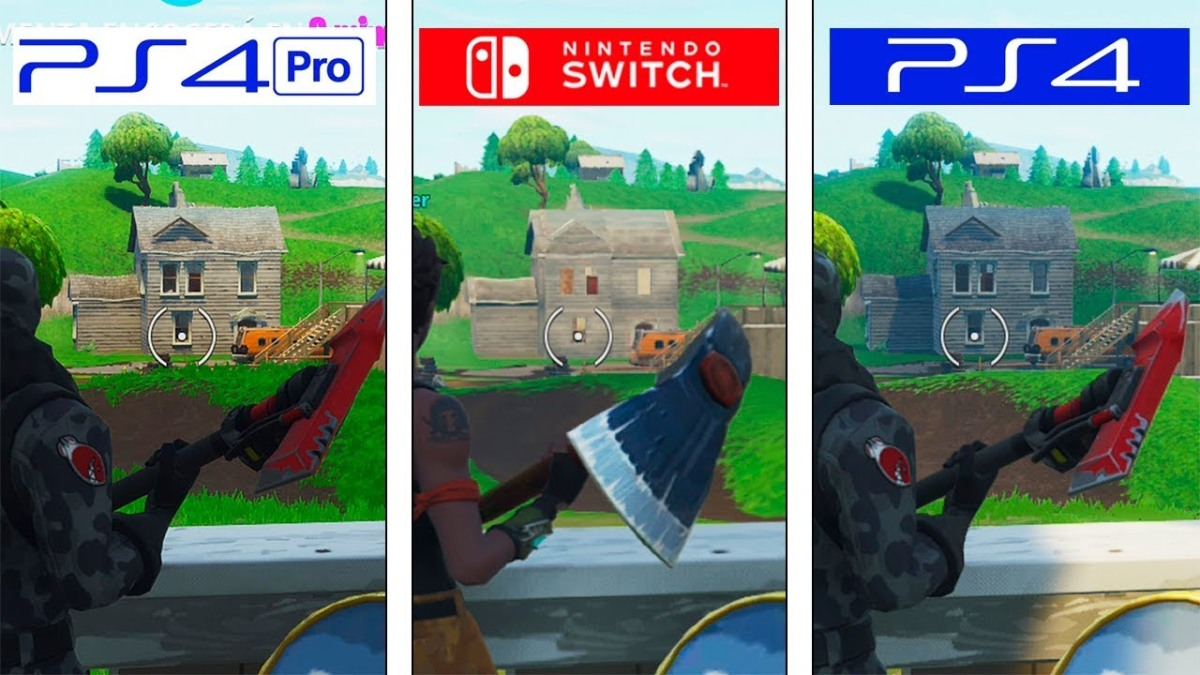 Video Fortnite Graphics Comparison Between Nintendo Switch And