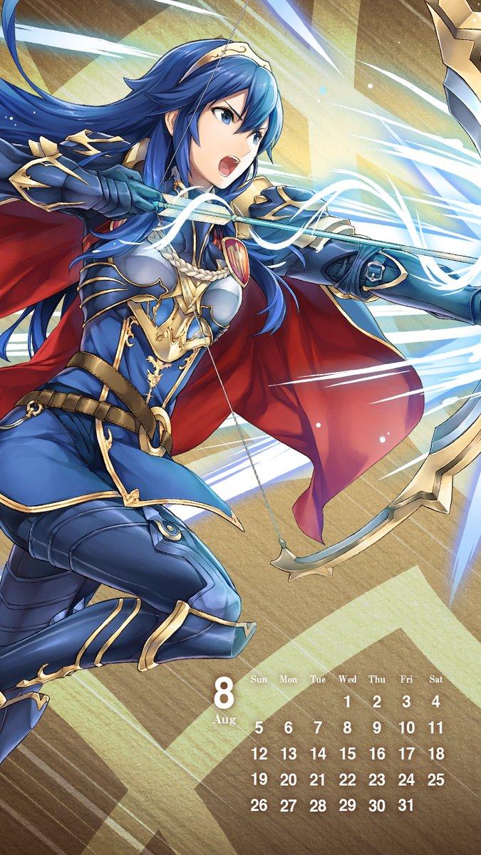 New Fire Emblem Heroes Calendar Wallpaper For August Features