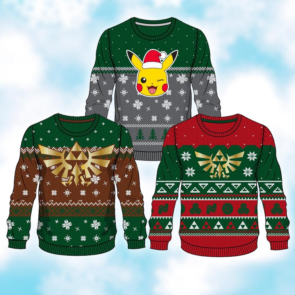 merchoid reveals official nintendo christmas sweaters based on zelda and pokemon my nintendo news - Legend Of Zelda Christmas Sweater