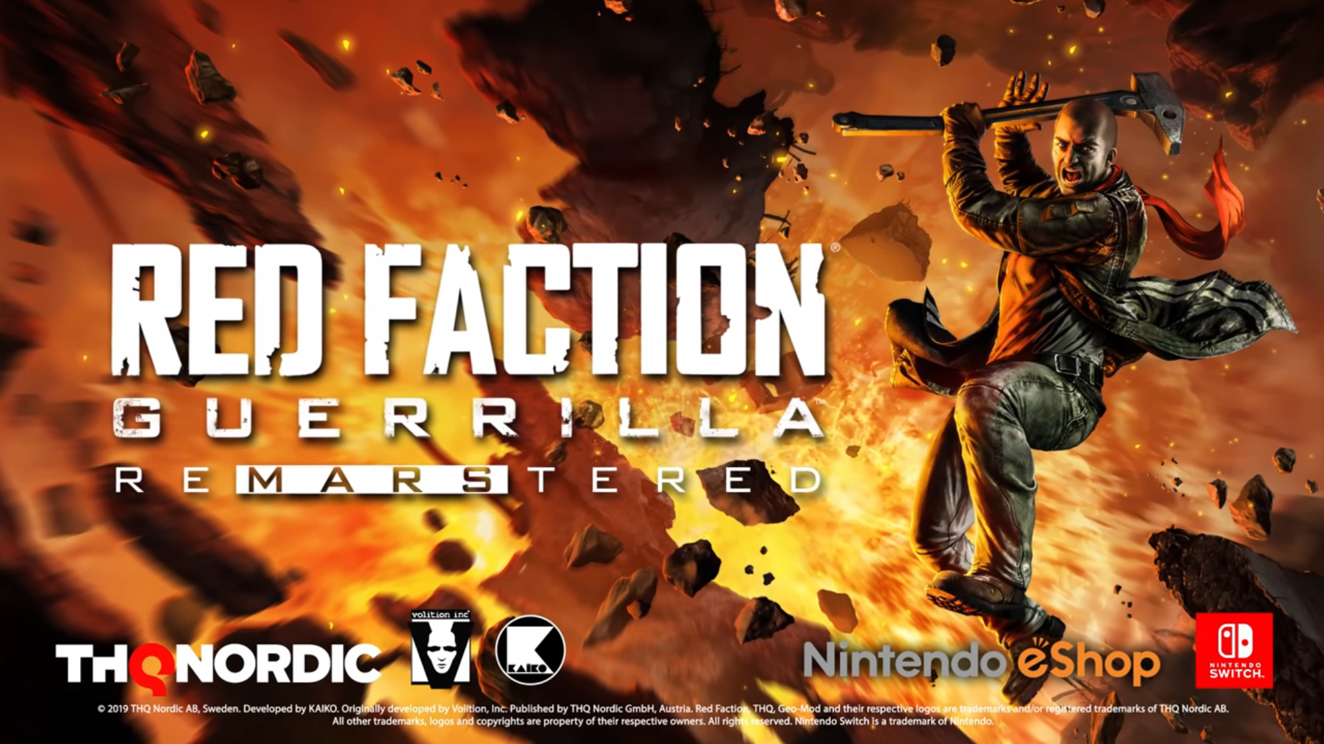 Red Faction: Guerrilla's remastered edition is coming to Switch