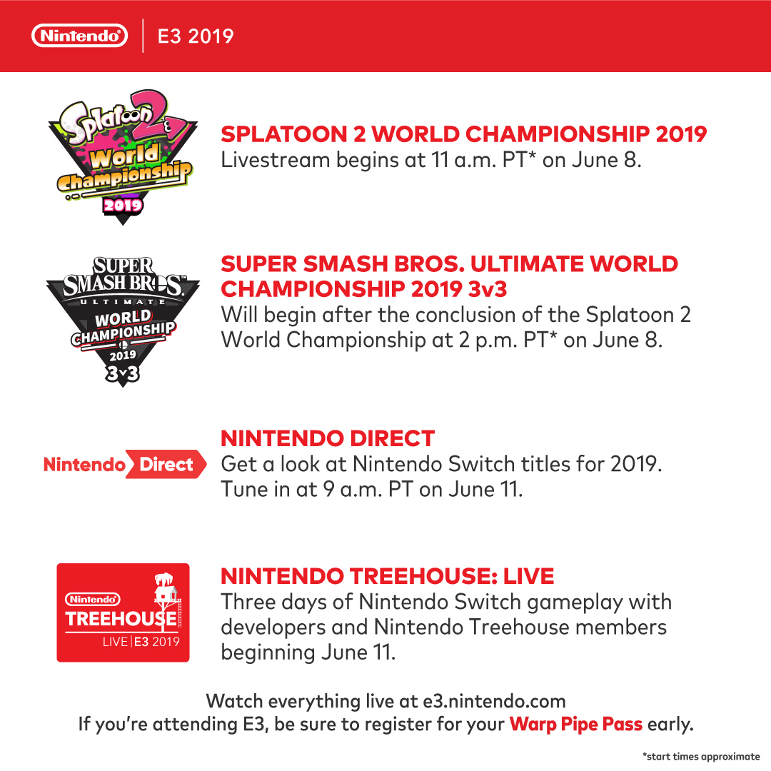 Nintendo Direct E3 2019 And Event Schedule Announced