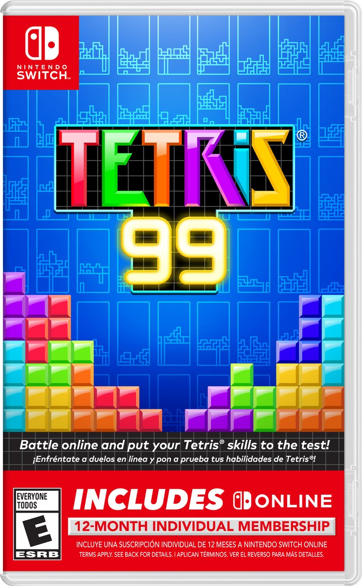 Nintendo of America announces physical version of Tetris 99