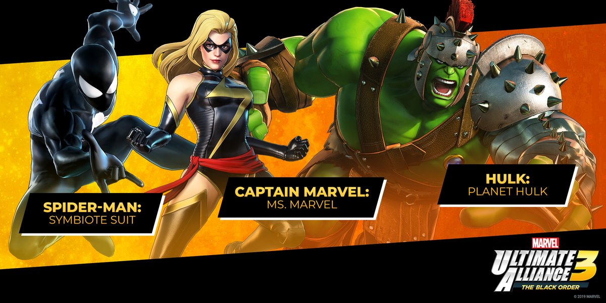 Free New Outfits For Spider Man Hulk And Captain Marvel Arrive In Marvel Ultimate Alliance 3 My Nintendo News 2020 popular 1 trends in novelty & special use, mother & kids, men's clothing, sports & entertainment with captain marvel costume and 1. marvel ultimate alliance 3