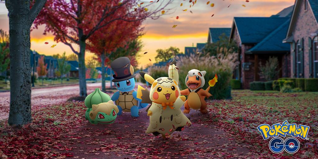 Pokemon Go Halloween event brings Pokemon in costumes, new shinies and bonuses