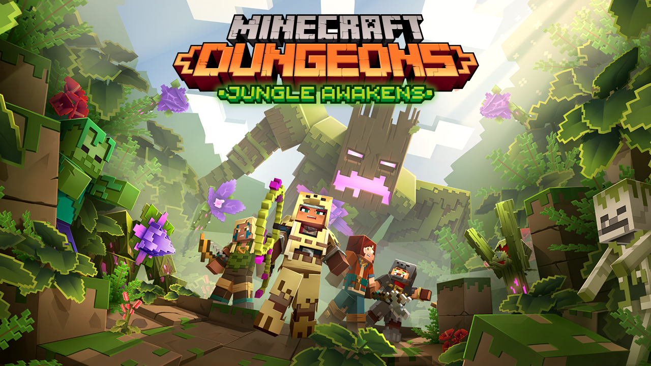Looks like we'll be playing Minecraft Dungeons' first DLC, Jungle Awakens, soon