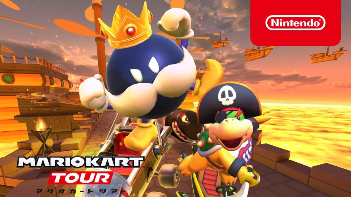 Mario Kart Tour Pirate Tour Begins Today And Adds Pirate Bowser Jr And King Bob Omb My Nintendo News