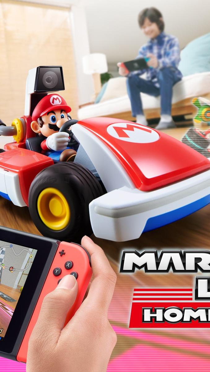 Dieses Bild zeigt ein Titelbild zu Nintendos neustem Geniestreich Mario Kart: Home Circuit.