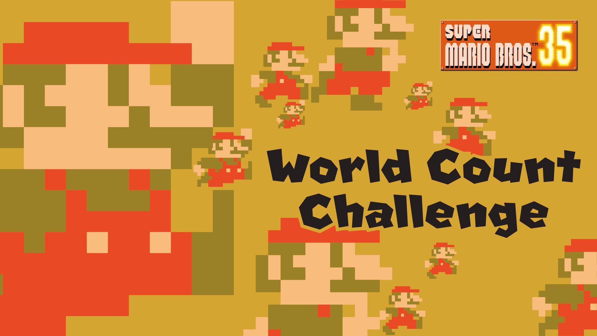 Nintendo announces Super Mario Bros 35 World Count Challenge starts 18th January