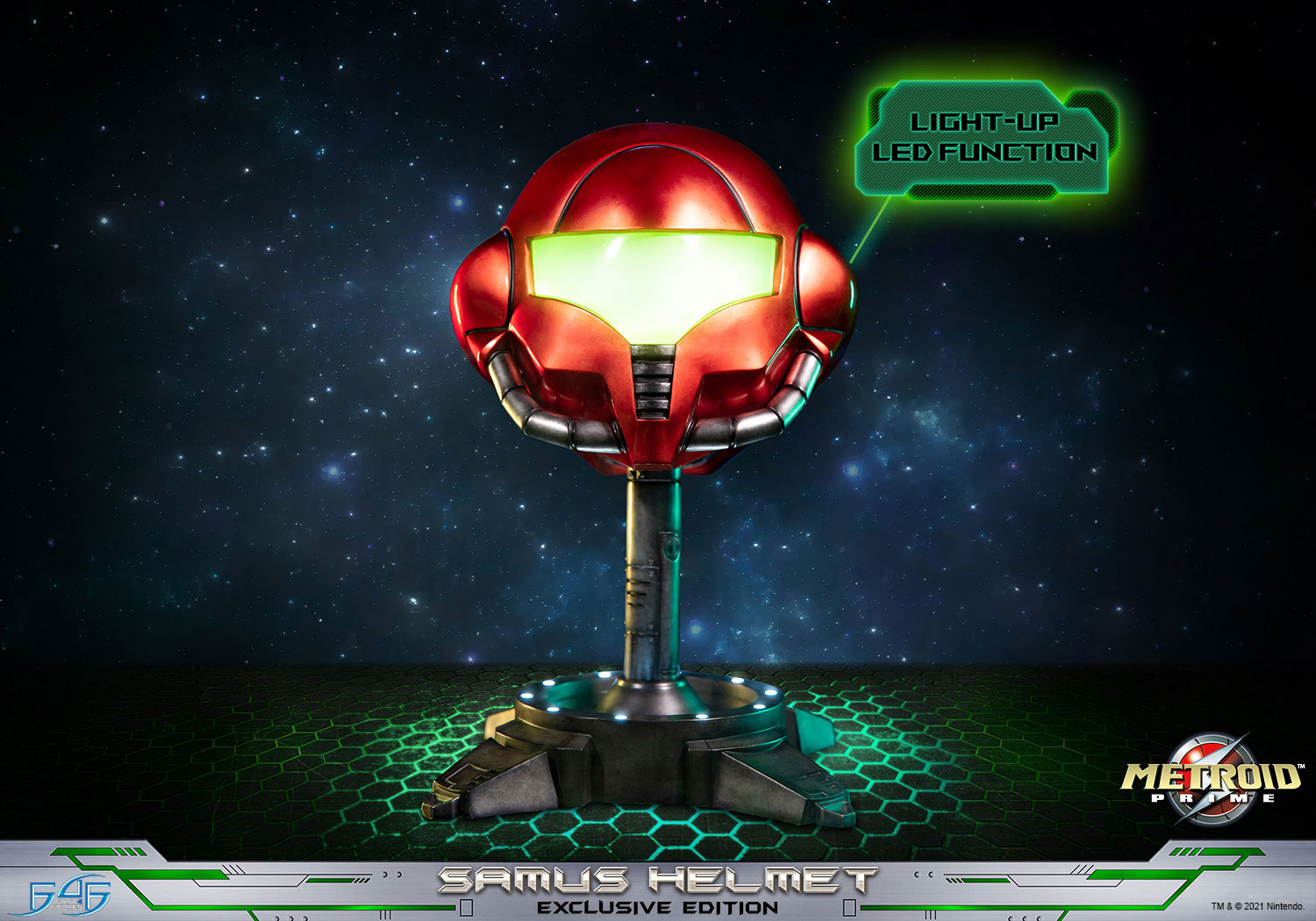 Lifesize Samus helmet statue from First 4 Figures now up for pre-order